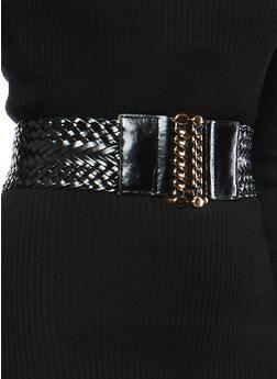 Braided Chain Buckle Waist Belt - 1128066924311