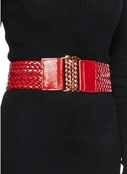 Braided Chain Buckle Waist Belt - 1128066924311
