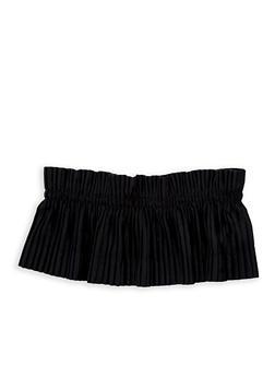 Plus Size Pleated Velvet Waist Belt - 1128066925771
