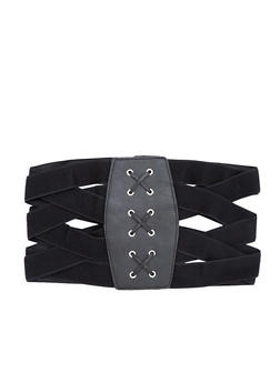 Criss Cross Stretch Waist Belt - 1128066926216