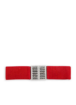 Ruched Jewel Encrusted Buckle Waist Belt - 1128066926650