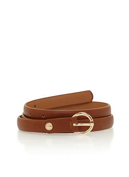 Faux Leather Stud Loop Belt - 1128073330081
