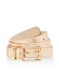 Textured Faux Leather Belt - 1128073331088