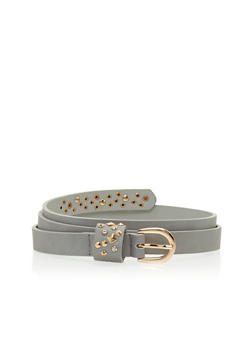 Plus Size Studded Belt - 1128073334468