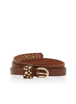 Plus Size Studded Belt - 1128073334468