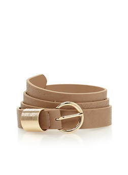 Spring Loop Faux Leather Belt - 1128073337020