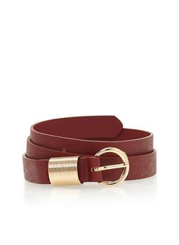 Spring Loop Faux Leather Belt - 1128073337020