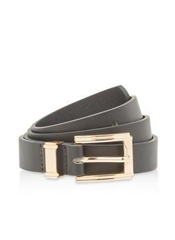 Basic Faux Leather Belt - 1128073337444