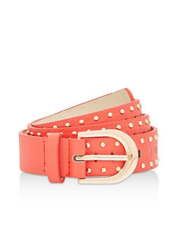Studded Laser Cut Belt - 1128073338043