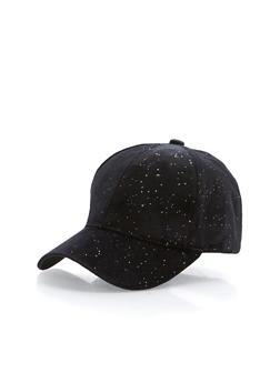 Glitter Velvet Baseball Hat - 1129064101704