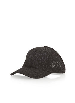 Lace Baseball Cap - BLACK - 1129067440407