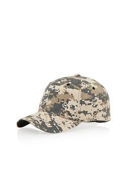 Camouflage Print Snapback Hat - 1129067447001