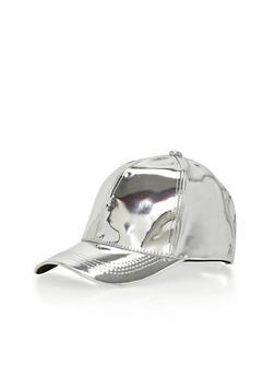 Metallic Snapback Baseball Hat - 1129067447022