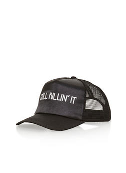 Still Killin It Graphic Trucker Hat - BLACK/BLACK - 1129067447033