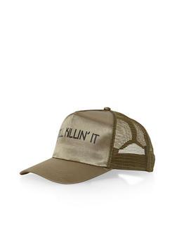 Still Killin It Graphic Trucker Hat - OLIVE/OLIVE - 1129067447033