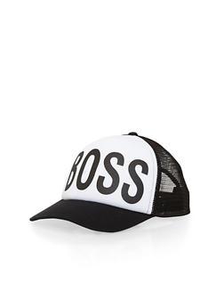 Boss Graphic Trucker Hat - 1129067447035