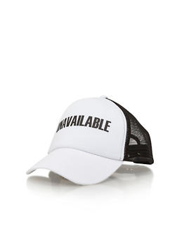 Unavailable Graphic Trucker Hat - 1129067447036