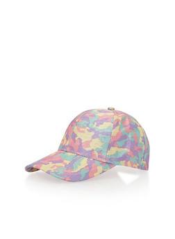 Multi Color Camoflauge Baseball Hat - PINK PASTELS - 1129067447048
