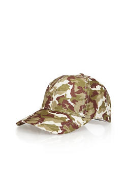 Multi Color Camoflauge Baseball Hat - GREEN S - 1129067447048