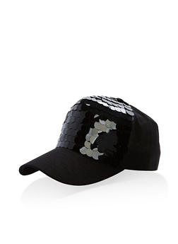 Large Layered Sequins Baseball Hat - 1129067447129
