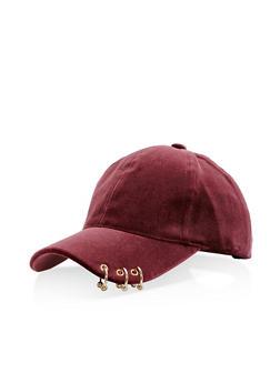 Pierced Velvet Baseball Hat - 1129067447139