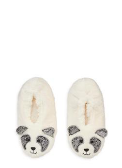 Fuzzy Animal Slippers - IVORY - 1130055321181