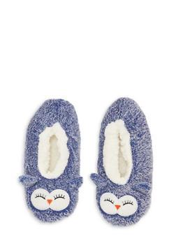 Fuzzy Animal Slippers - DENIM - 1130055321181
