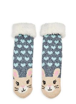 Long Critter Knit Socks - NATURAL - 1130055321281