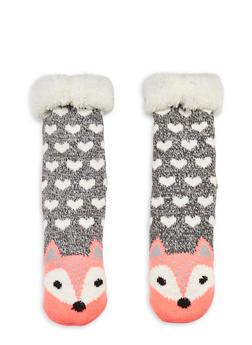 Long Critter Knit Socks - NEON PINK - 1130055321281