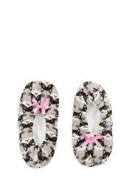 Fuzzy Animal Print Slipper Socks - 1130055321970