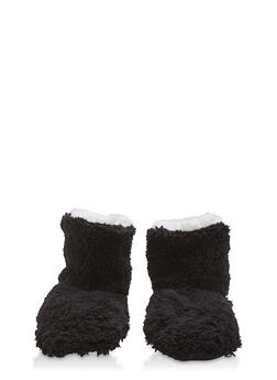 Fuzzy Slipper Booties - 1130055325091