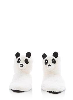 Fuzzy Animal Slipper Booties - IVORY - 1130055328381