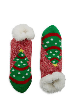 Fuzzy Holiday Lounge Socks - 1130055329903