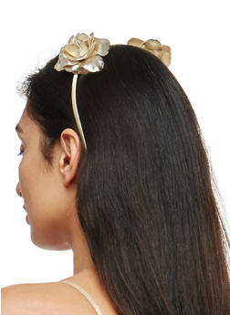 Double Rose Headband - 1131018430145