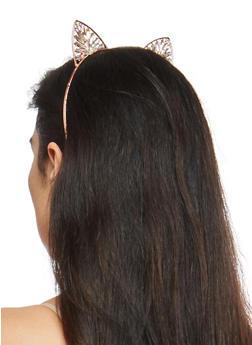 Jeweled Metallic Cat Ear Headband - 1131018433070
