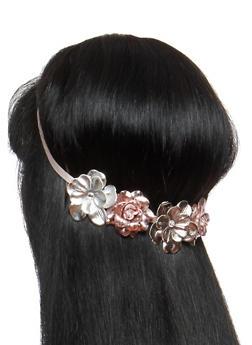 Metallic Flower Headband - 1131018436138