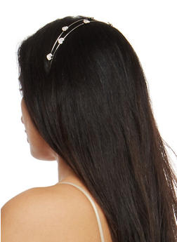 Rhinestone Heart Headband - 1131018436151