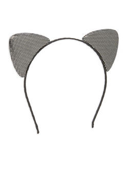 Double Sided Metallic Cat Ear Headband - 1131063090920