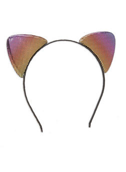 Double Sided Metallic Cat Ear Headband - MULTI COLOR - 1131063090920