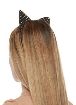 Studded Foam Cat Ears Headband - 1131063090936