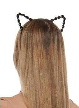 Rhinestone Cat Ears Headband - 1131063094636