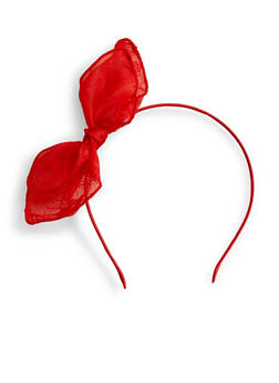 Pointy Lace Cat Ear Headband - RED - 1131063095098