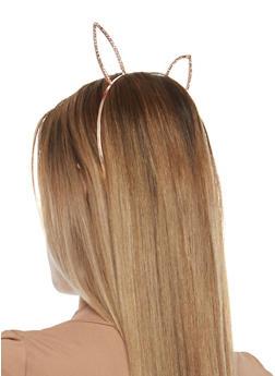 Rhinestone Bunny Ears Headband - 1131063095124