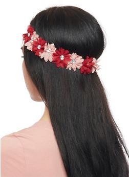 Floral Rhinestone Headband - BLUSH - 1131067253968