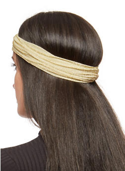 Convertible Shimmer Knit Headwrap - GOLD - 1131074171517