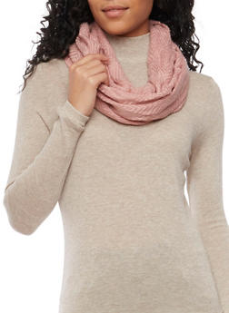 Infinity Scarf in Textured Knit - MAUVE - 1132067443626