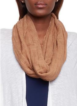 Knit Infinity Scarf - CAMEL - 1132067446061