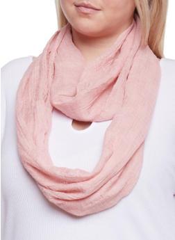 Knit Infinity Scarf - MAUVE - 1132067446061