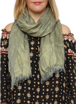 Metallic Scarf - GREEN - 1132067446079