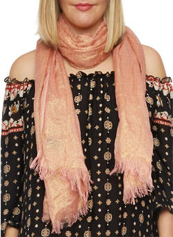Metallic Scarf - BLUSH - 1132067446079